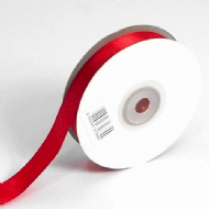 Red Double Faced Satin Ribbon. 3mm x 50meters Per Reel